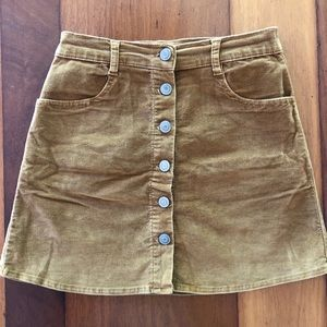 Brandy Melville Tan Suede Mini Skirt (size 2)